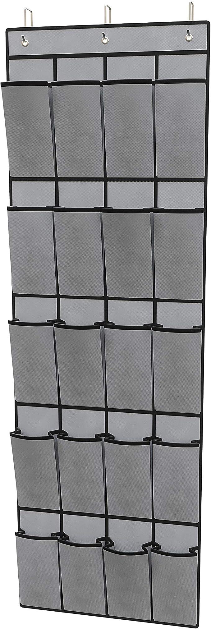 Sapateira Pendurável, 20 Pares, 26.5x33.5 cm, Cinza,