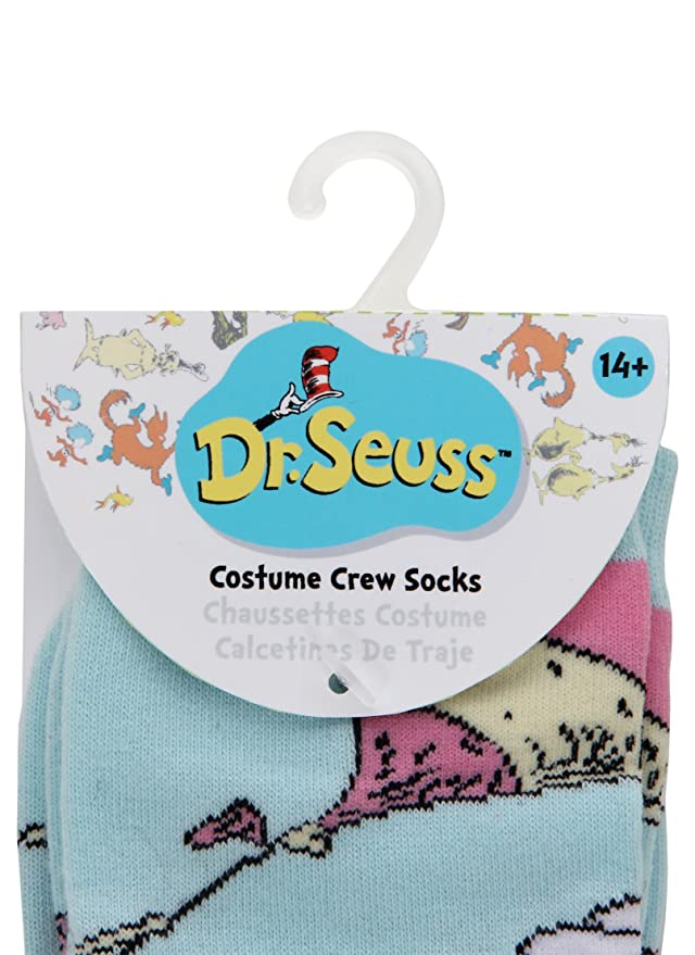 Amazon.com: elope Dr. Seuss Oh The Places Youll Go! Costume Socks Blue: Clothing