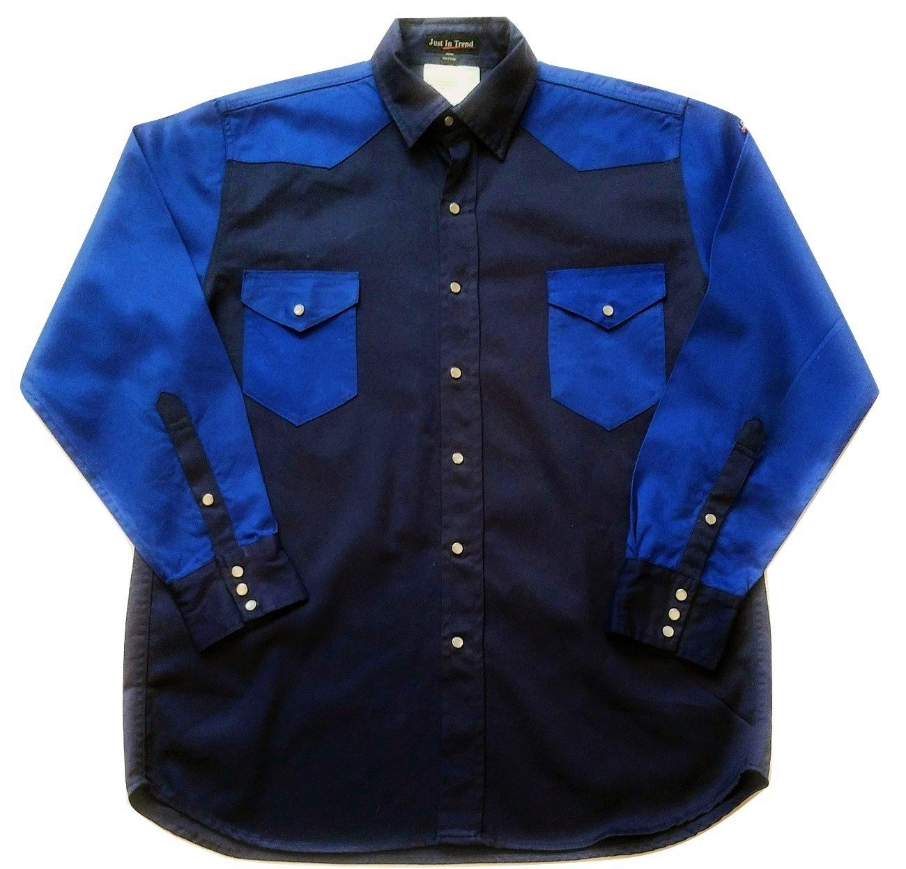 Just In Trend SHIRT メンズ B07646JXNR S|Dark Blue / Royal Blue Dark Blue / Royal Blue S