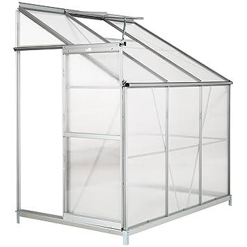 Toldo de policarbonato de aluminio de TecTake para invernadero con ventana y puerta deslizante, en diferentes modelos: Amazon.es: Jardín