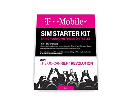 Amazon Com T Mobile Prepaid Complete Sim Starter Kit Cell Phones