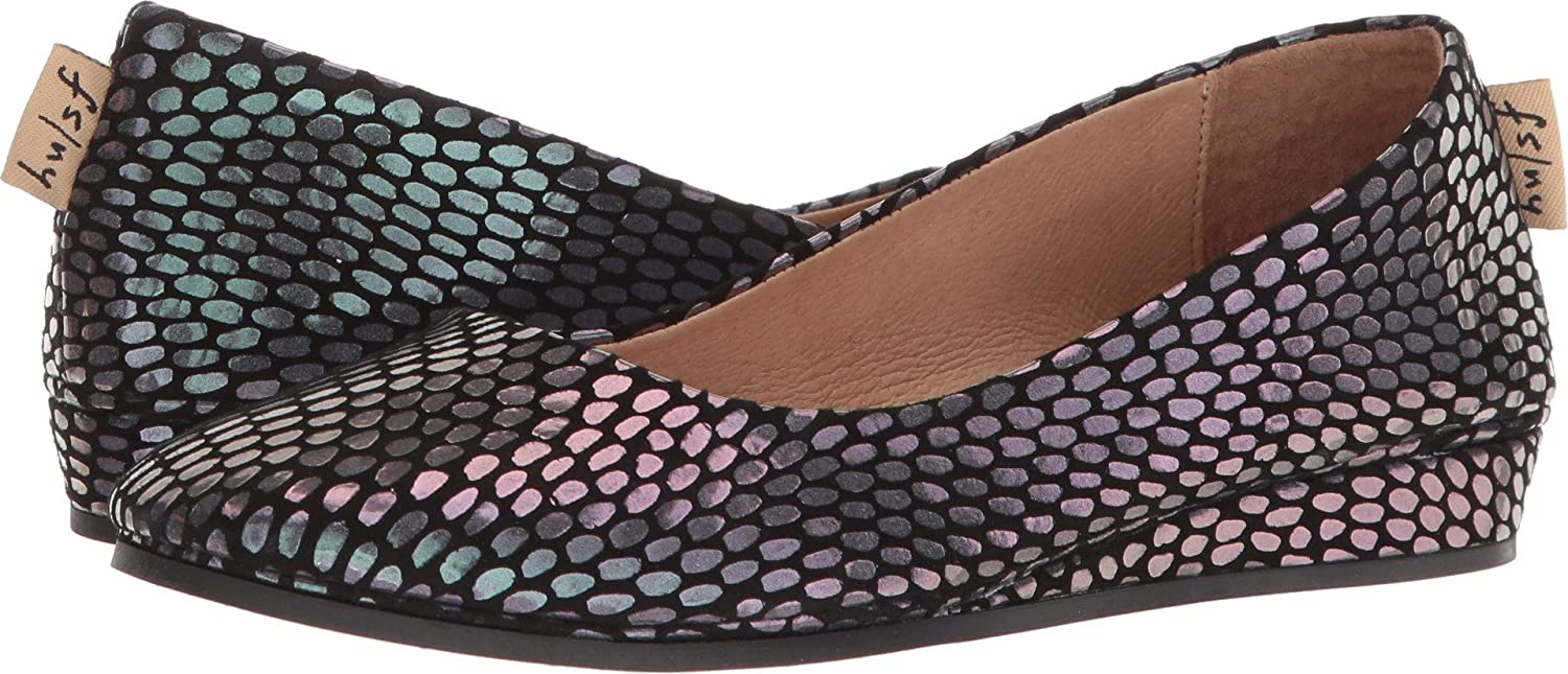 French Sole Women's Zeppa Slip on Shoes B076NYHHFQ 9 B(M) US|Black Julep Print