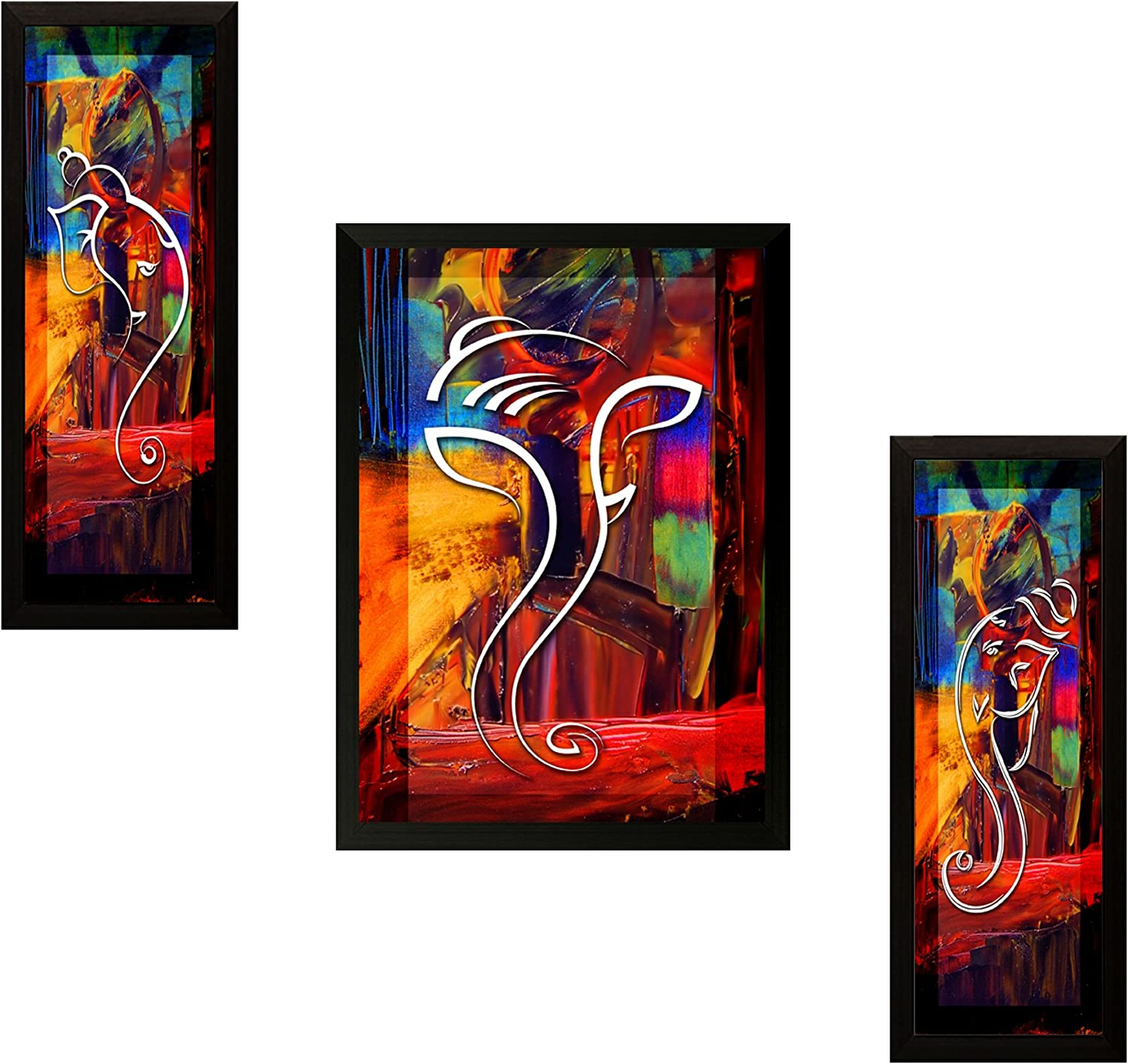 SAF 'Ganesh' Framed Painting (Synthetic, 13.5 inch x 22