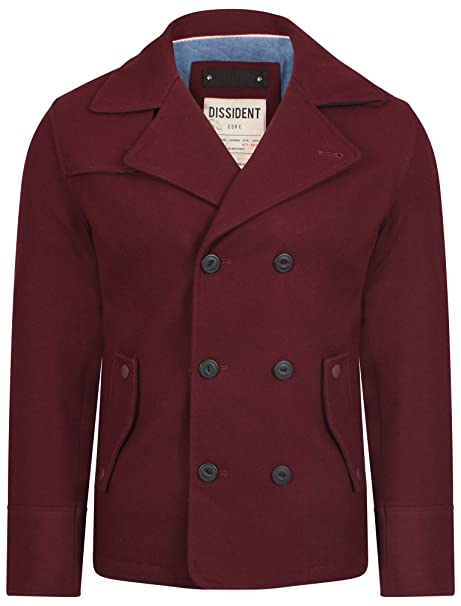 caban Uomo Giacca Oxblood Cappotto Dissident Amazon Large it wqEtBnW8n