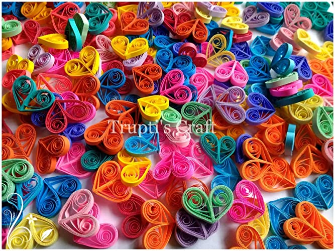 paper quilling small hearts embelishmentconfetti wedding baby shower bridal shower