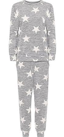 2d5af58bd6cf0 Rimi Hanger Womens Plus Size White Star Print Jogging Suit Top Pants  Loungewear CO-Ord