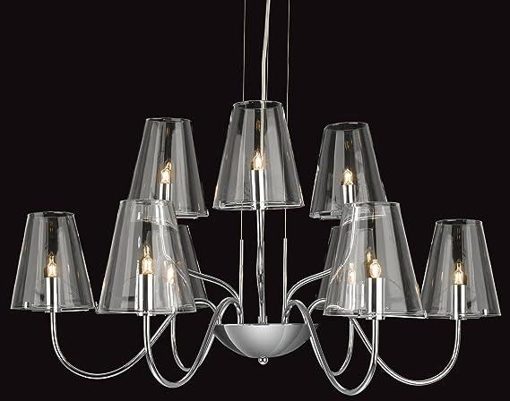 Firstlight, Jasmine G9 - Lámpara de techo (cromo y cristal ...