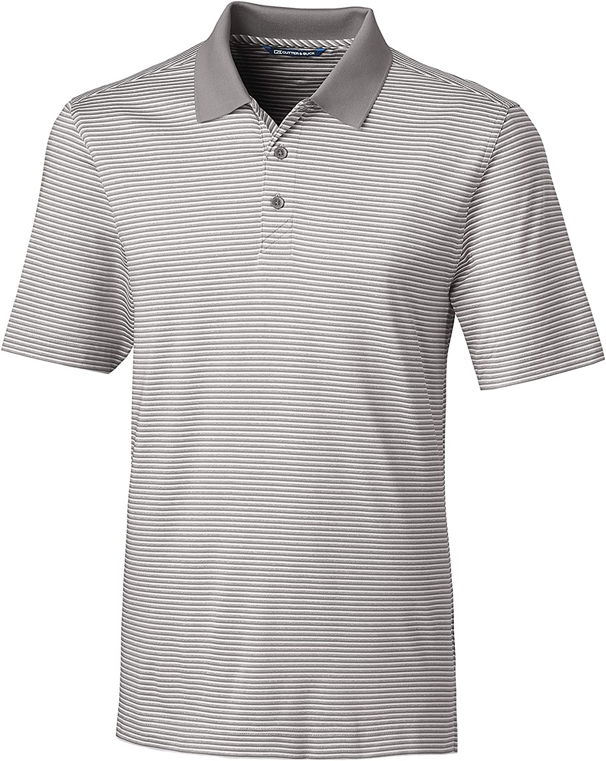 Cutter & Buck Men's Big and Tall Moisture Wicking Drytec UPF 50 Forge Tonal Stripe Polo Shirt