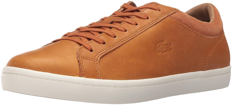 Amazon.com | Lacoste Men's Straightset CRF SRM Fashion Sneaker, Tan, 7 M US  | Fashion Sneakers