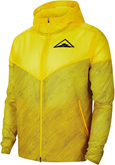 traqueteo sacudir balsa  Amazon.com: Nike Men's Hooded Trail Running Windrunner Jacket (M, Speed  Yellow/Black): Clothing