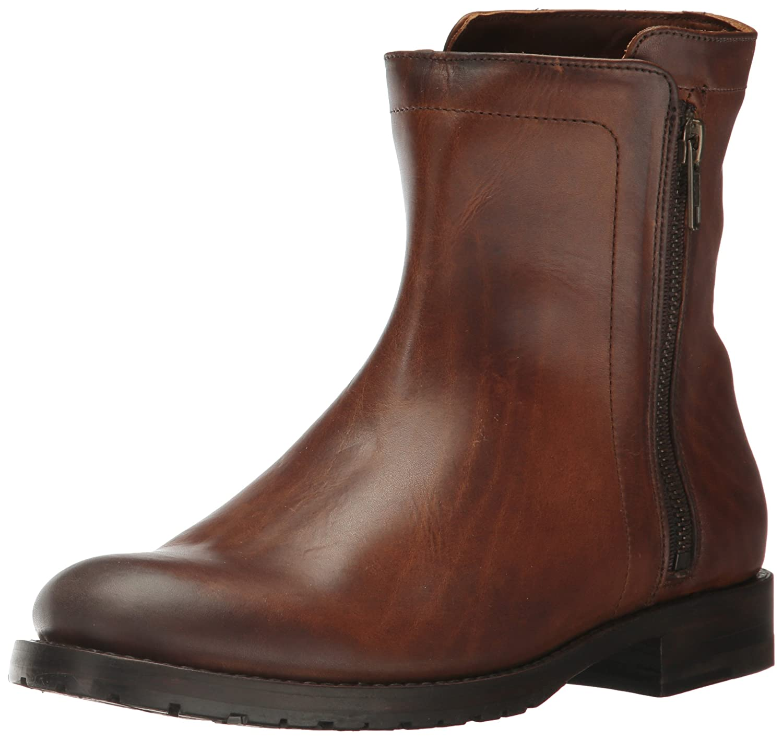 FRYE Women's Natalie Double Zip Boot B01NAPMWIH 7 B(M) US|Whiskey Pressed Full Grain