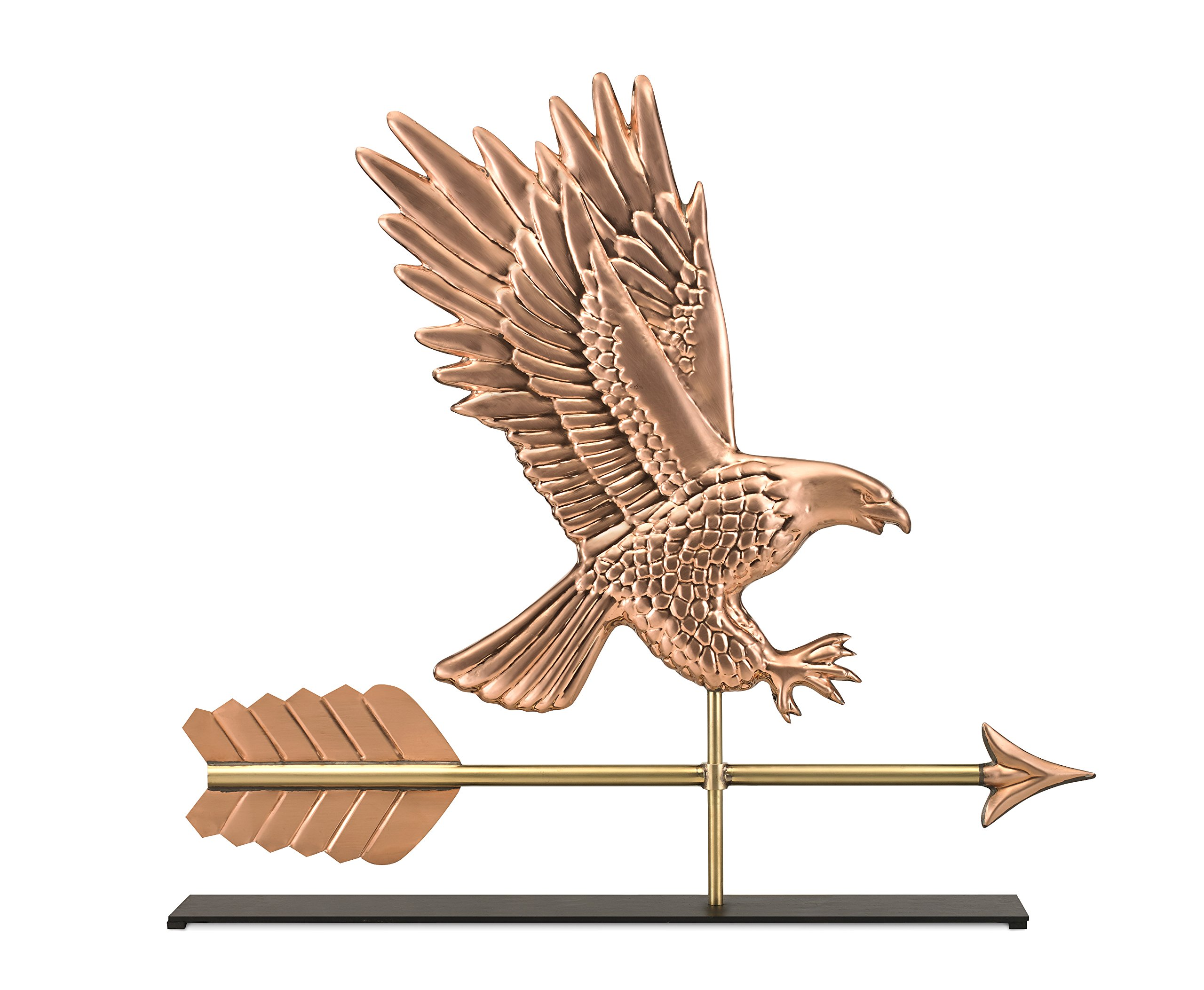 Good Directions American Bald Eagle Pure Copper Weathervane Sculpture on Mantel Stand: Home Décor