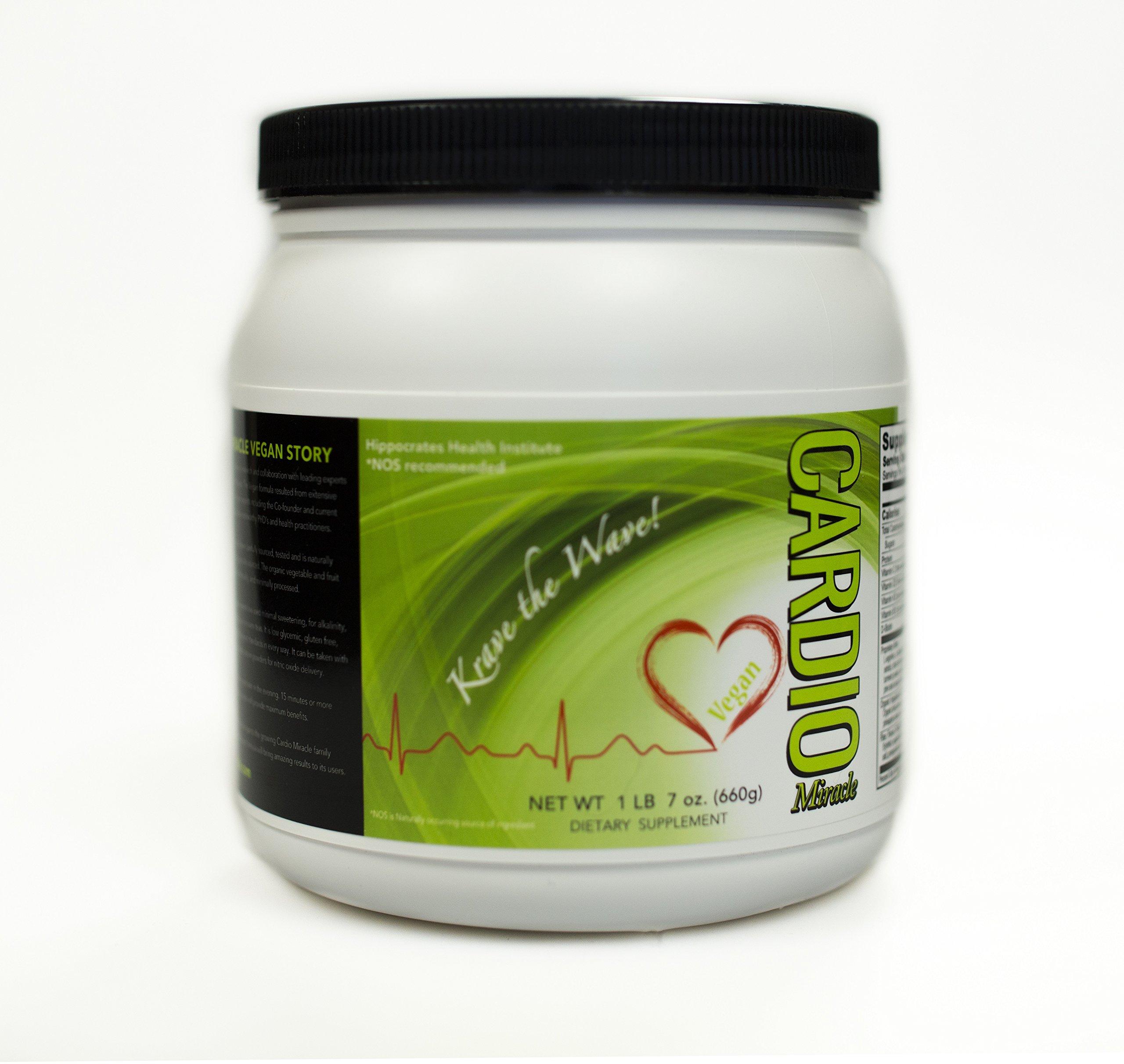 Cardio Miracle (TM) Vegan Nutritional Heart Healthy Vegan Drink Mix L-Arginine Drink Mix