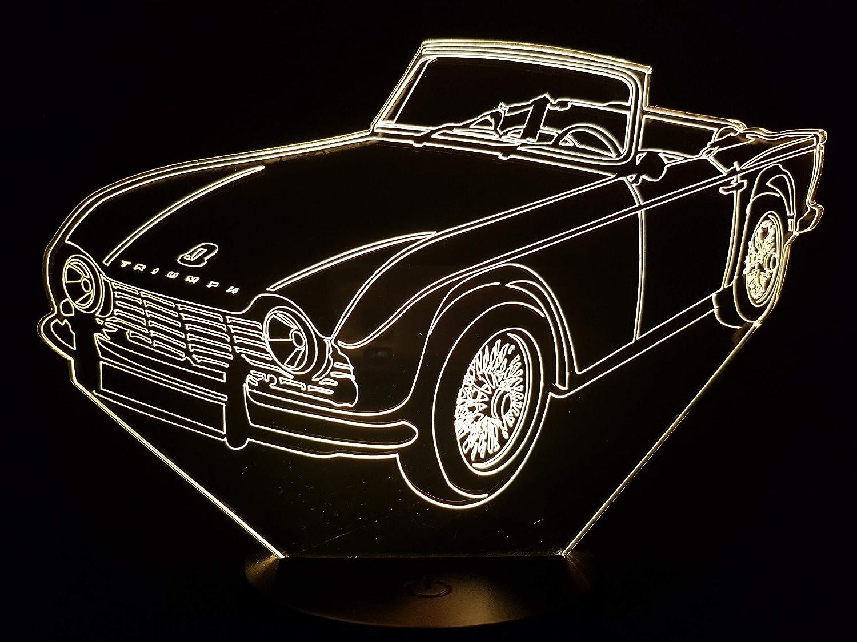 Amazon com: TRIUMPH TR4, 3D LED lamp: Handmade