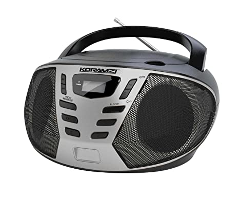 KORAMZI Portable CD Boombox With AM/FM Radio,AUX IN,Top Loading CD