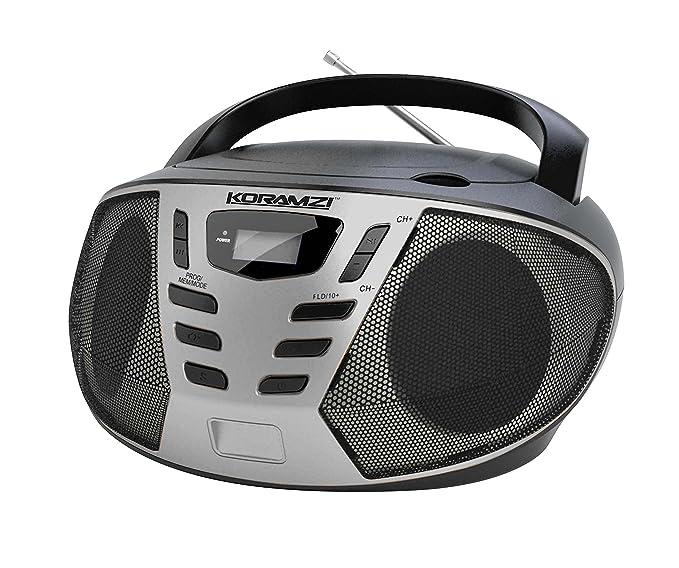 Review KORAMZI Portable CD Boombox