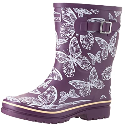 Jileon Mid Calf Rain Boots | Specially Designed for Wide Feet, Ankles & Calves | Half Height Wide Calf Rain Boots for Plus Size Women | 100% Waterproof Wide Calf Rain Boots - Mid Calf | Shoes