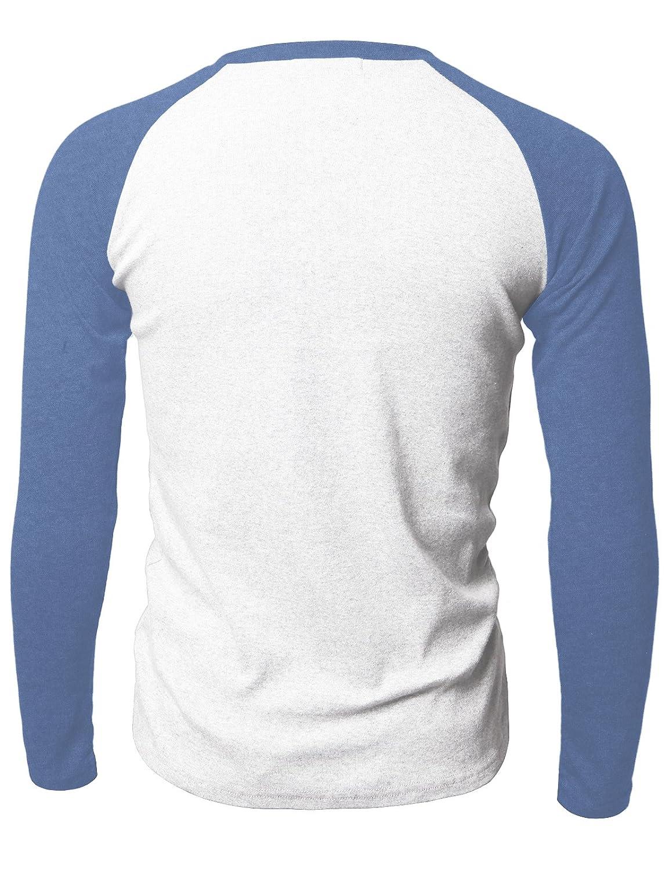 03a92136190 Amazon.com: Doublju Mens Raglan Baseball V-Neck Long Sleeve T-shirt:  Clothing