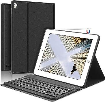 SENGBIRCH iPad Teclado Funda, Funda con Teclado Español para iPad 2018(6th Gen)/iPad 2017/iPad Air 2/iPad Air/iPad Pro 9.7,Teclado Bluetooth con Cover ...