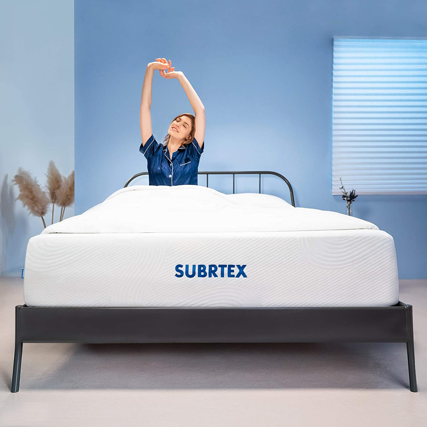 Subrtex 12-inch Breathable 3 Layers Gel-infused Memory Foam Mattress Soft Full Body Support Comfortable Cooling Bed in a Box – 10 Years Warranty Twin