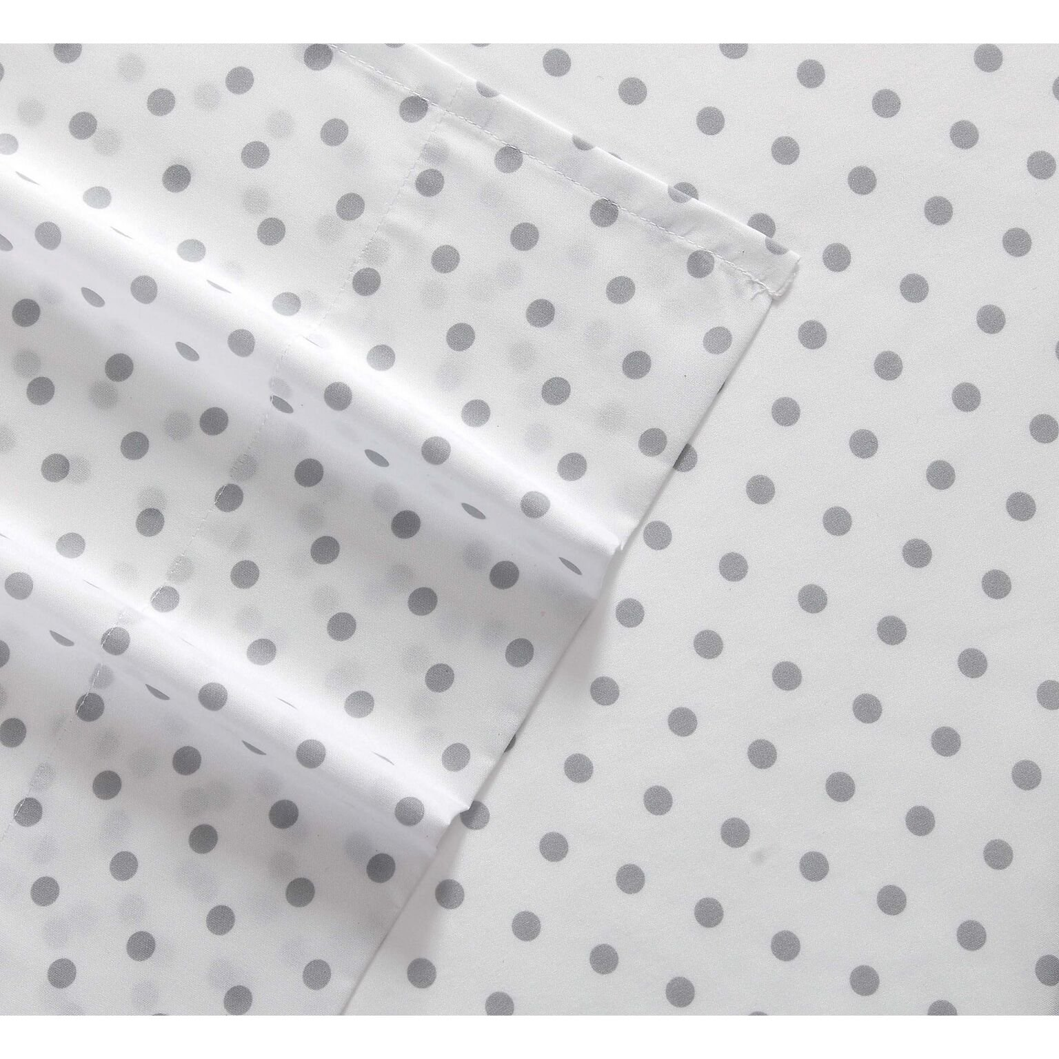 Truly Soft SS2329GYFU-4700 Everyday Printed Dot Sheet Set, Full, Grey by Truly Soft Everyday (Image #3)