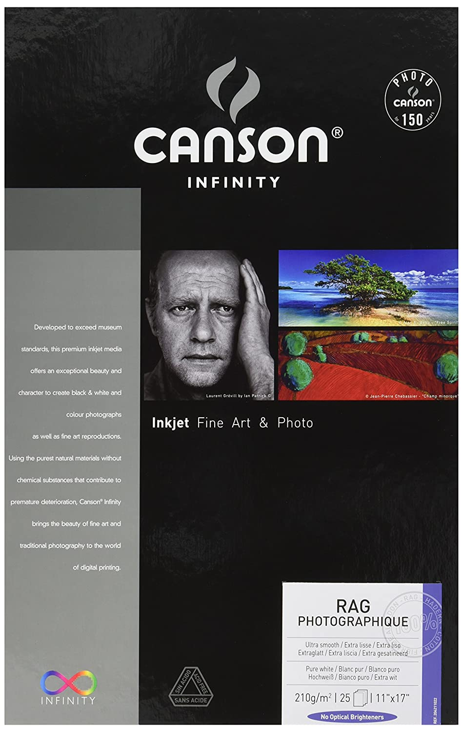 Canson Infinity Rag Photographique Fine Art Paper, 210 Gram, 8.5 x 11 Inch, 10 Sheets (206211020) Canson Inc.