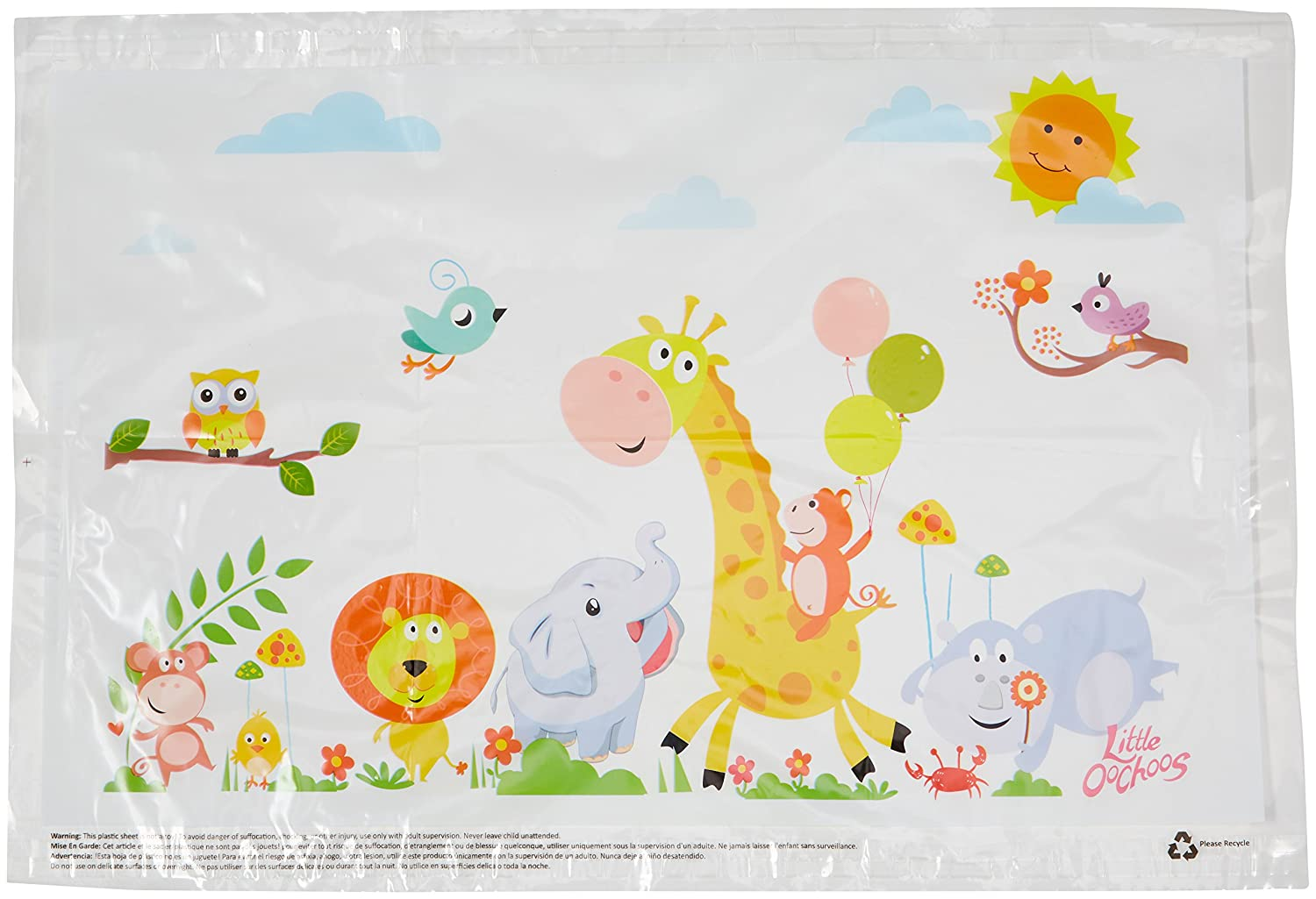 Safari Disposable Placemats for Table Top 60 Mats for Children Kids Toddlers Baby perfect to use as Restaurants Place mats BPA Free Eco Friendly Sticks to Table Avoid Germs Fun Designs Keep Neat Now! Smart Creations Pro