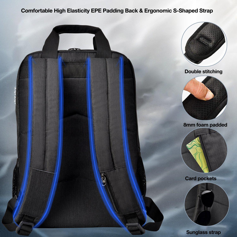 Kopack College Backpack W Usb Charging Port Lightweight Slim Laptop Bag For Business Travel 15 15.6 IN KP677 by kopack (Image #2)