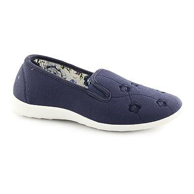 Wide Fit Slip On Loafer Shoes Navy UK
