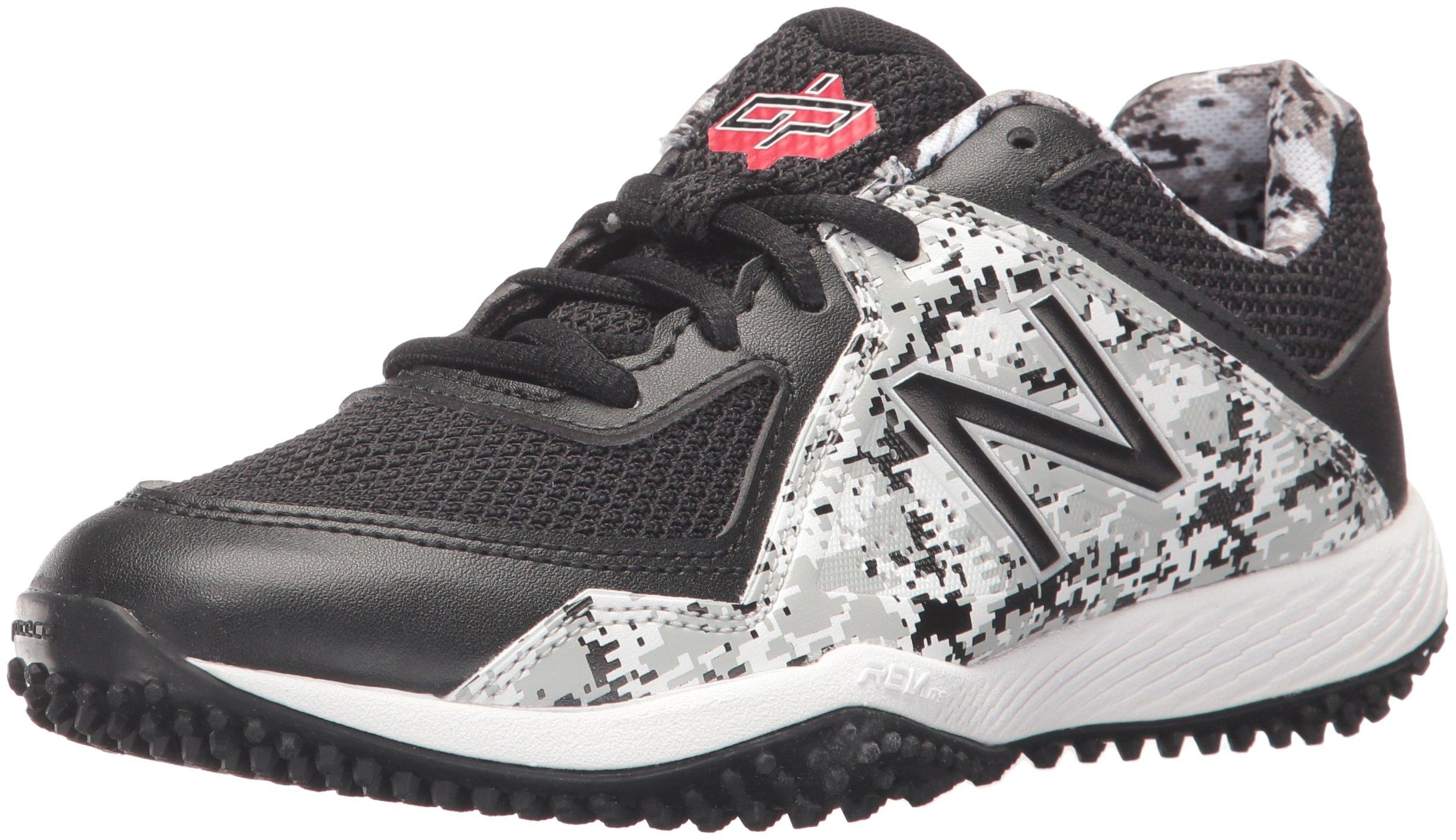 New Balance Boys' TY4040 Turf Baseball Shoe, Black/White, 6 M US Big Kid by New Balance (Image #1)