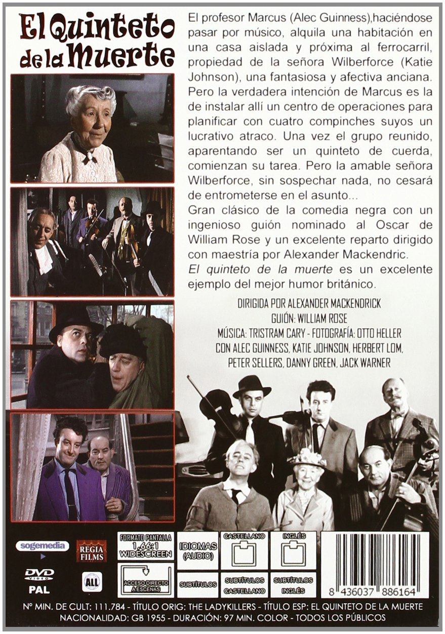 The Ladykillers El Quinteto De La Muerte Audio English Spanish Region 2 Spain Import Movies Tv