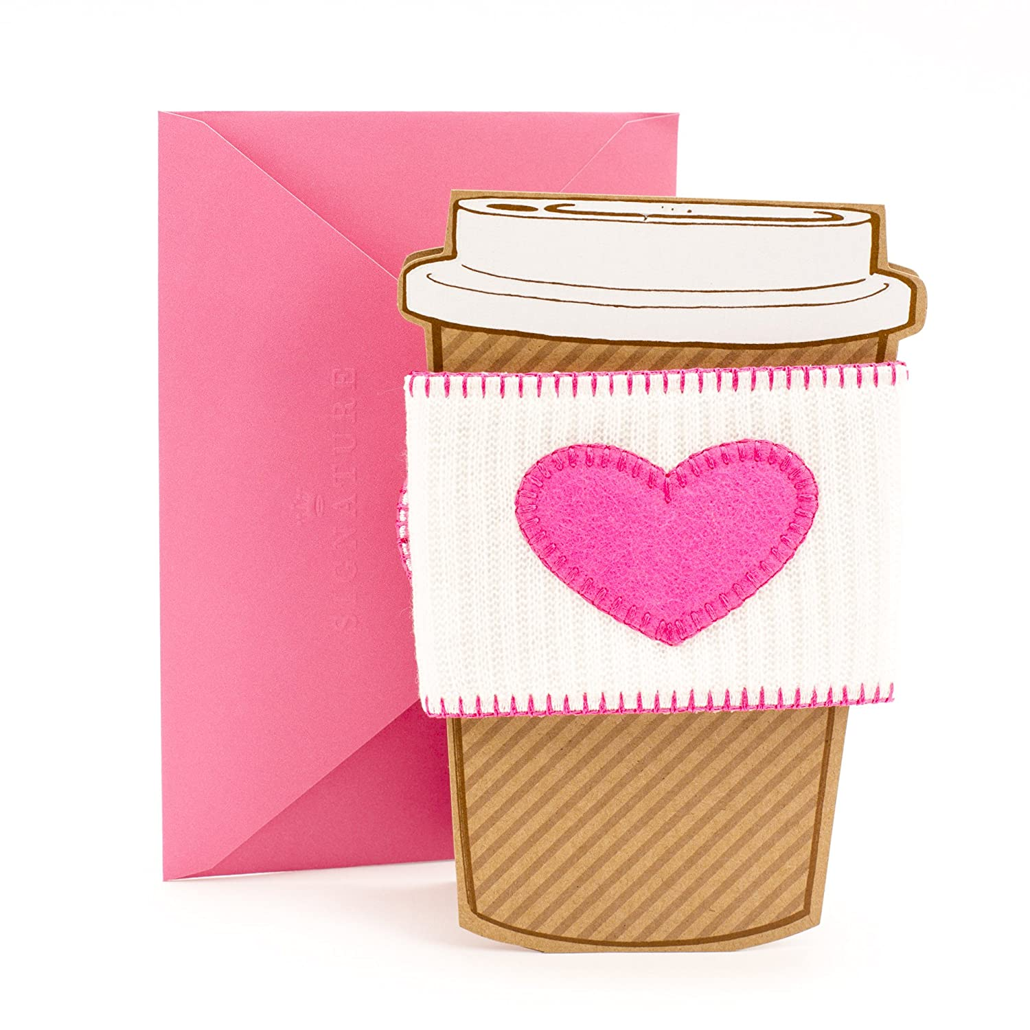 Hallmark Signature Mothers Day Card Removable Coffee Cup Sleeve