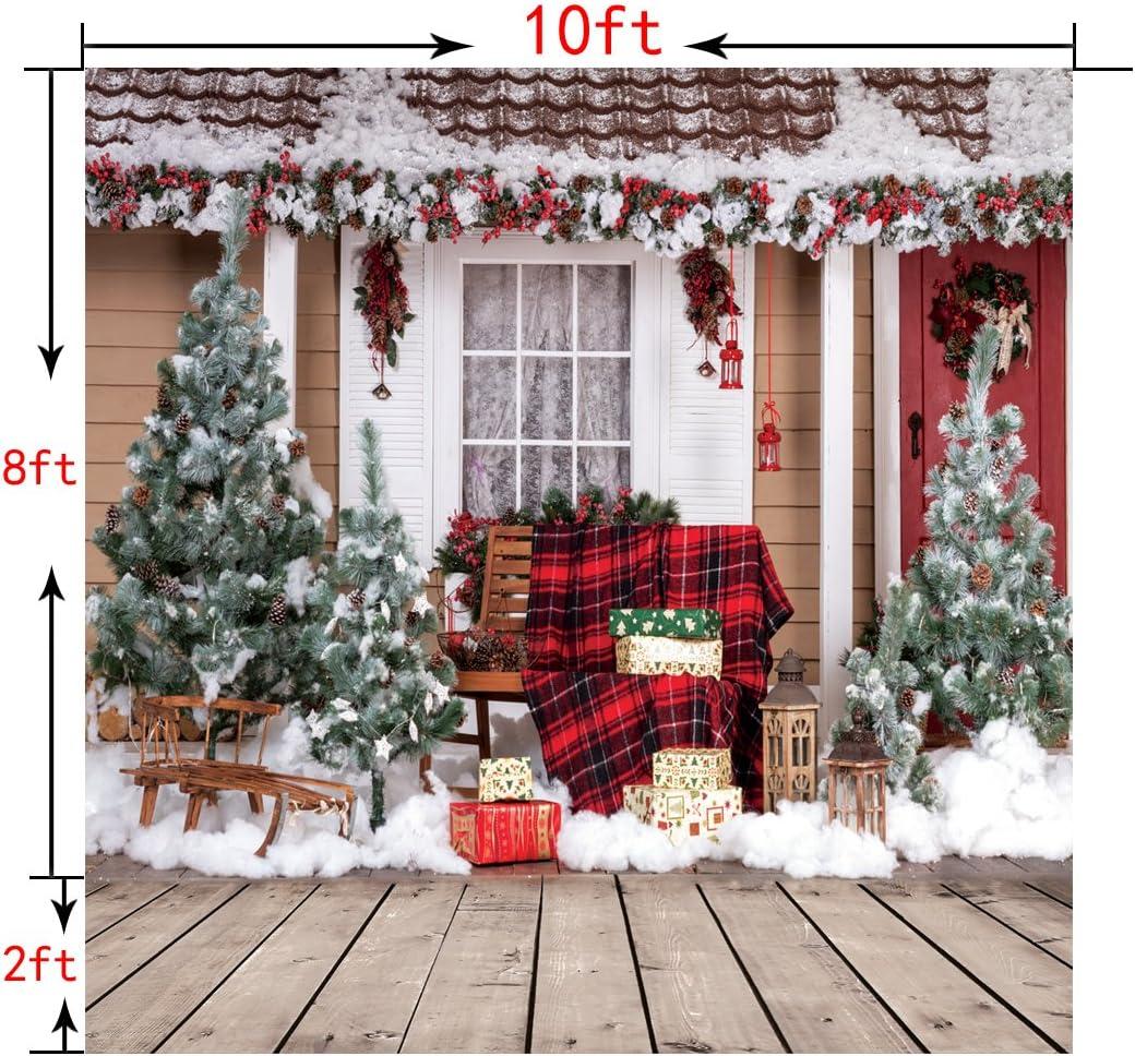 10x10ft Christmas Backdrop Christmas Backdrops for Photography Xmas Photo Backdrops Viny