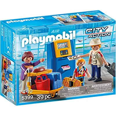 PLAYMOBIL Family at Check-in Building Set: Toys & Games
