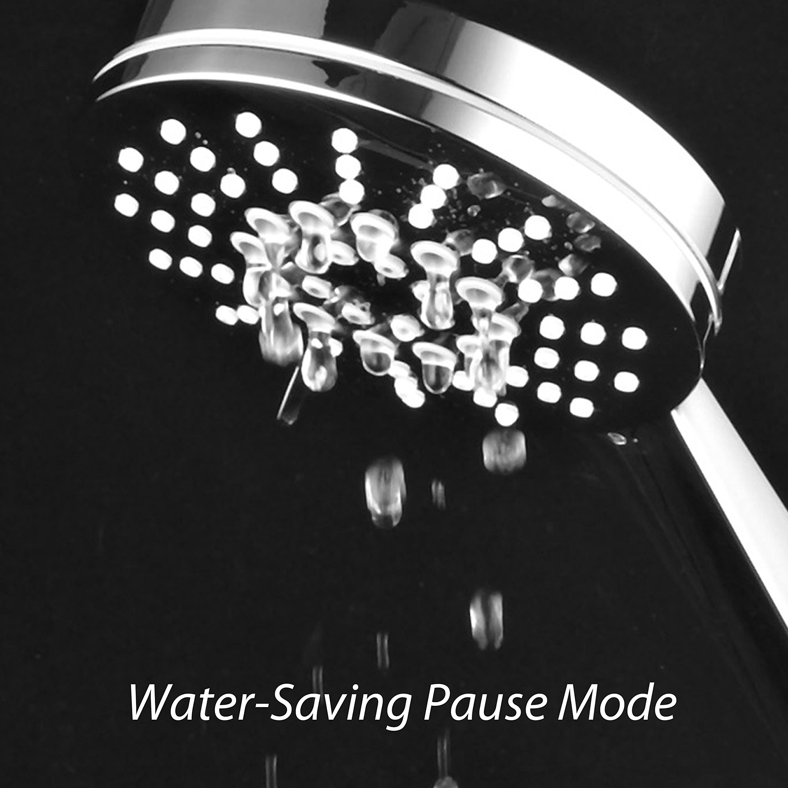 AirJet-300 High Pressure Luxury 6-setting Hand Shower with High-Velocity Flow Accelerator(TM) Hydro-Engine for More Power with Less Water! Extra-Long 6 foot Stainless Steel Hose/Full Chrome Finish