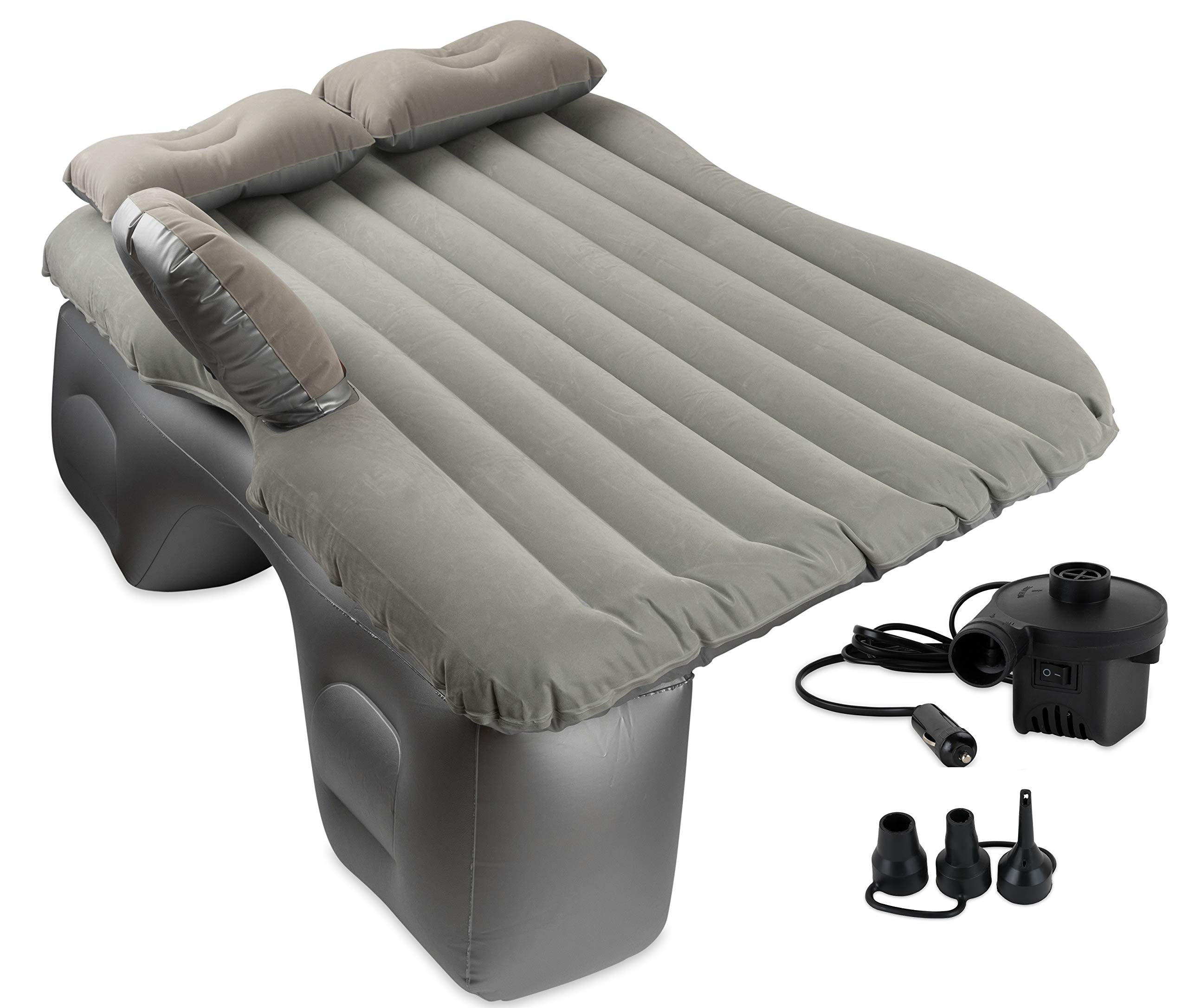 OLIVIA & AIDEN Inflatable Car Air Mattress with Pump (Portable) Travel, Camping, Vacation   Back Seat Blow-Up Sleeping Pad   Truck, SUV, Minivan   Compact Twin Size by OLIVIA & AIDEN