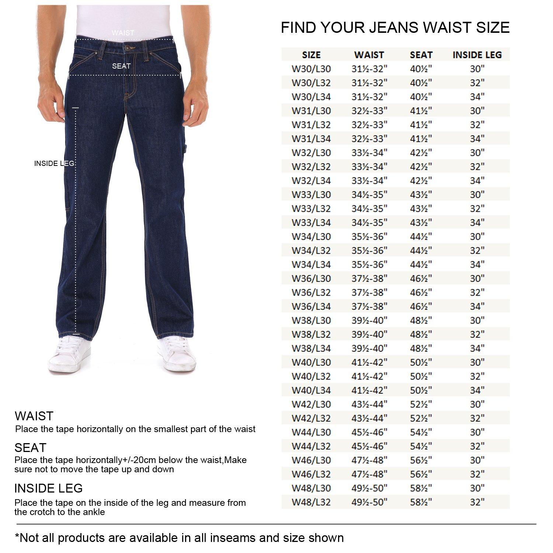 Indigo alpha Carpenter Dark Navy Blue Denim Work Jeans(8020D,W31/L34) by Indigo alpha (Image #2)