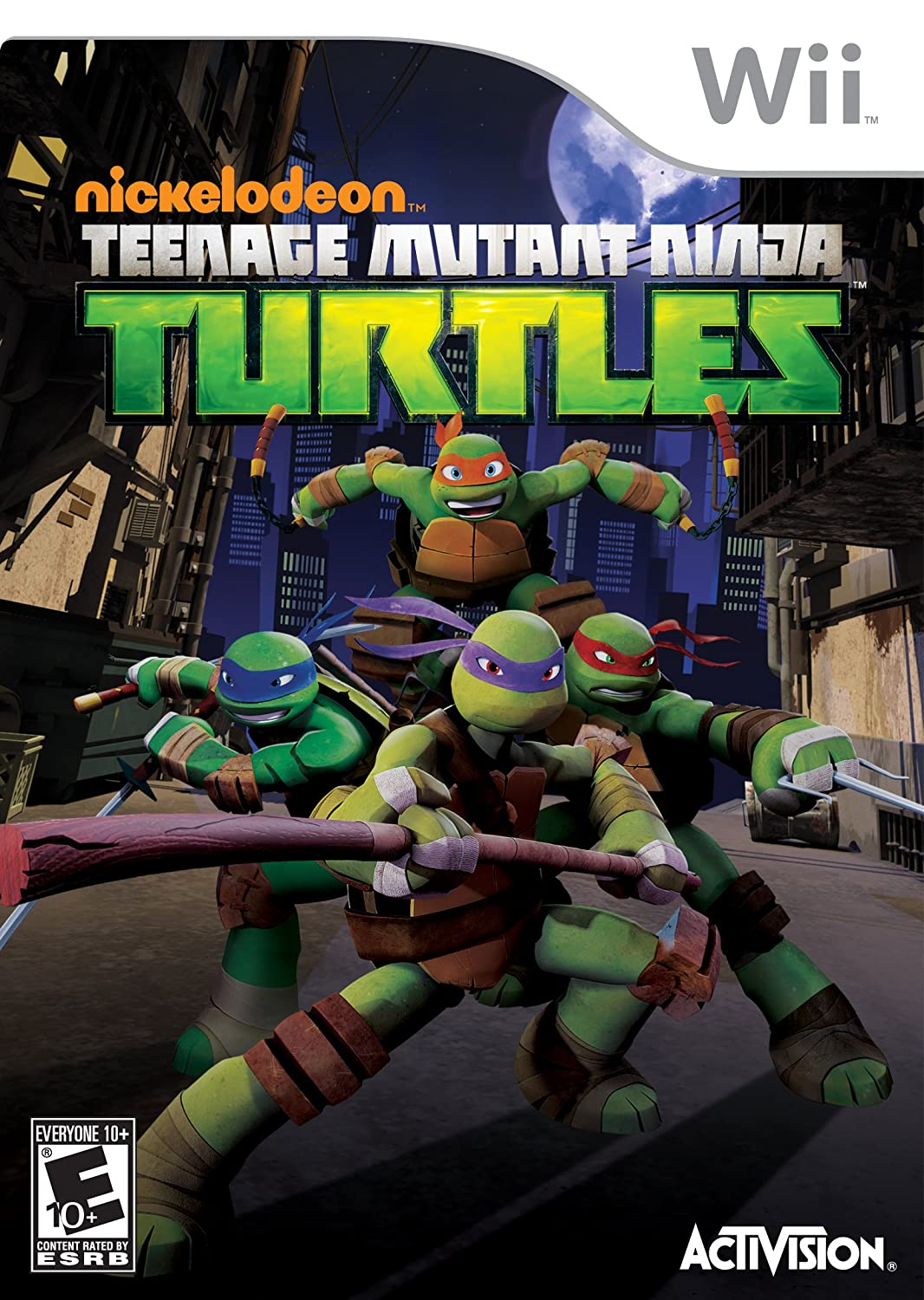 Amazon Com Teenage Mutant Ninja Turtles Nintendo Wii Video Games
