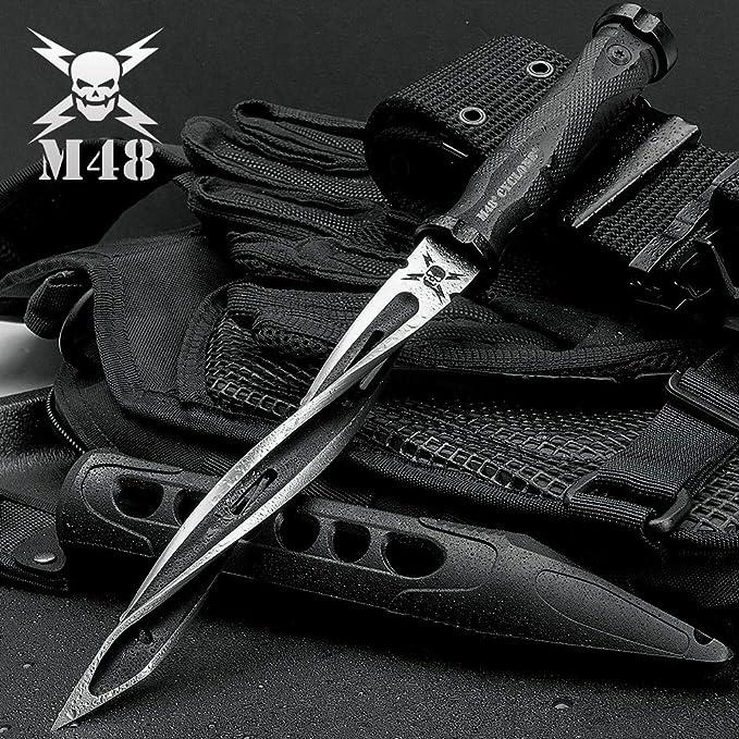 M48 Cyclone Tri Edged Spiraling Dagger Knife With Custom Vortec Sheath by United Cutlery