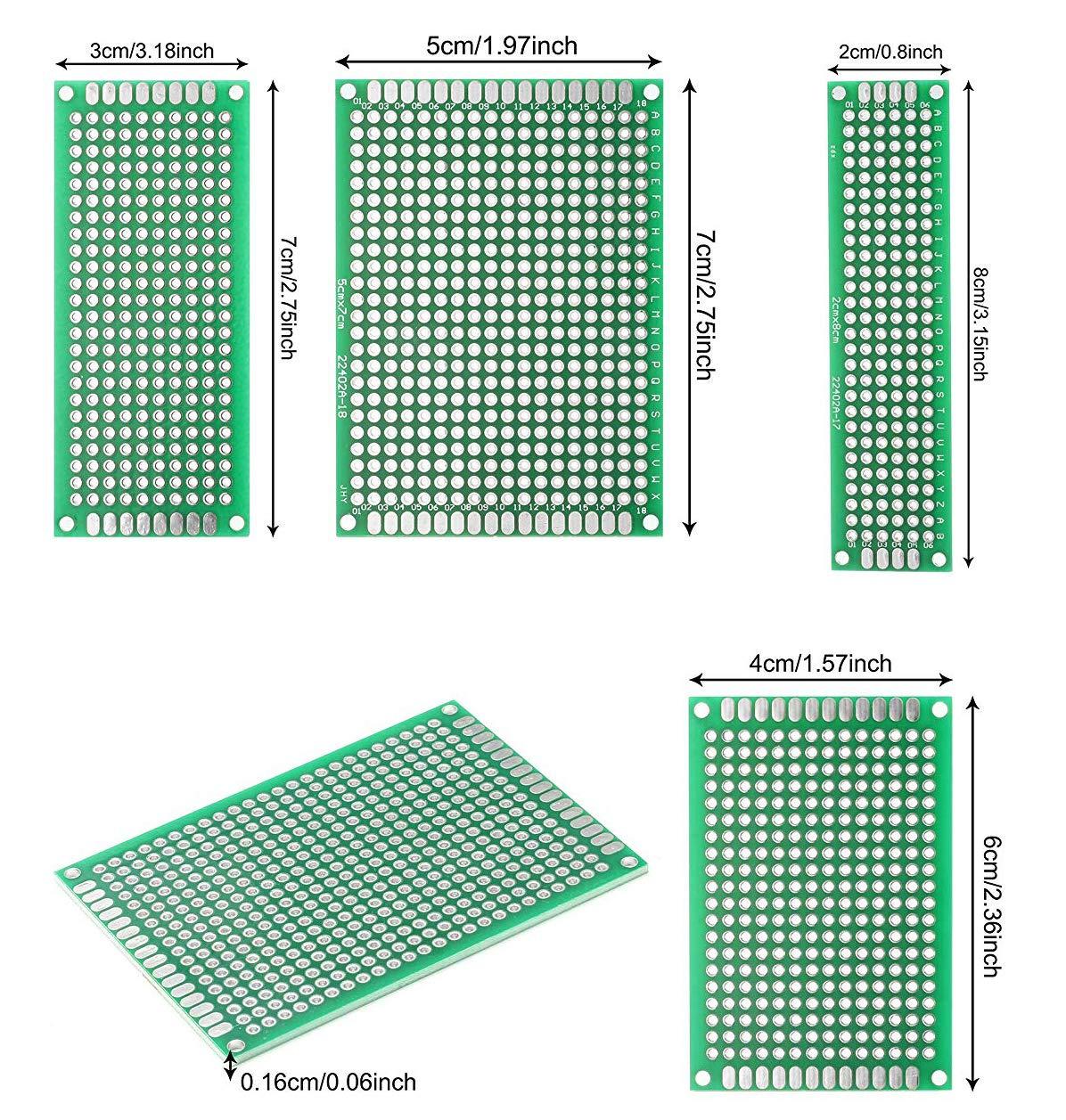 30 PCB Universal Board 30 Jumper Caps 30 Kopfleiste ALLDREI 100Stk leiterplatte Kit 10 Screw Terminal