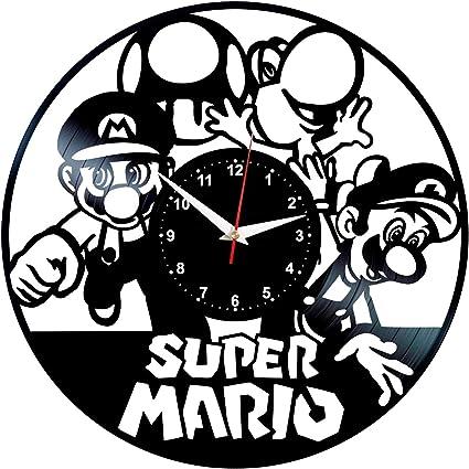 SUPER MARIO 2  VINTAGE RETRO  METAL TIN SIGN WALL CLOCK