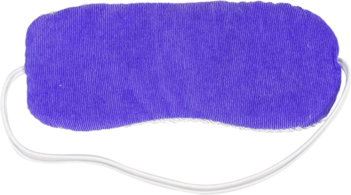 Bed Buddy Aromatherapy Eye Mask with Warm and Cold Therapy for Stress Relief - Microwave-Safe Eye Pillow & Sleep Mask, Purple, Lavender Scented