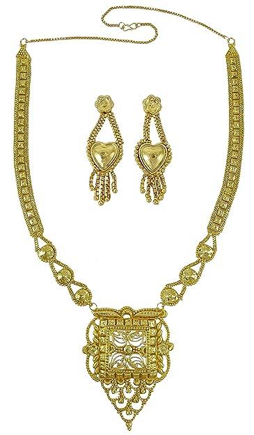 Banithani Ethnischer indischer traditioneller 18K Gold