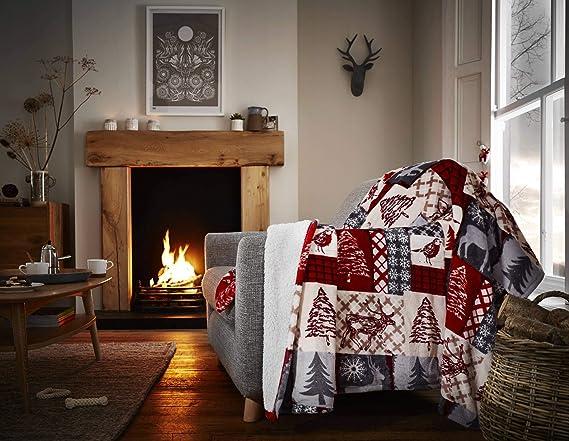 Amazon.com: Happy Linen Company - Manta de franela para sofá ...
