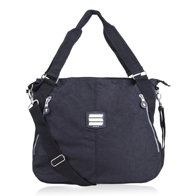 Suvelle Lightweight Large Tote Travel Everyday Crossbody Bag Multi Pocket Shoulder Handbag 1932