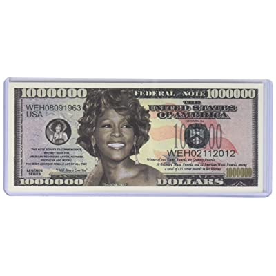 American Art Classics Whitney Houston One Million Dollar Bill in Collector Grade Currency Holder Novelty Money: Toys & Games