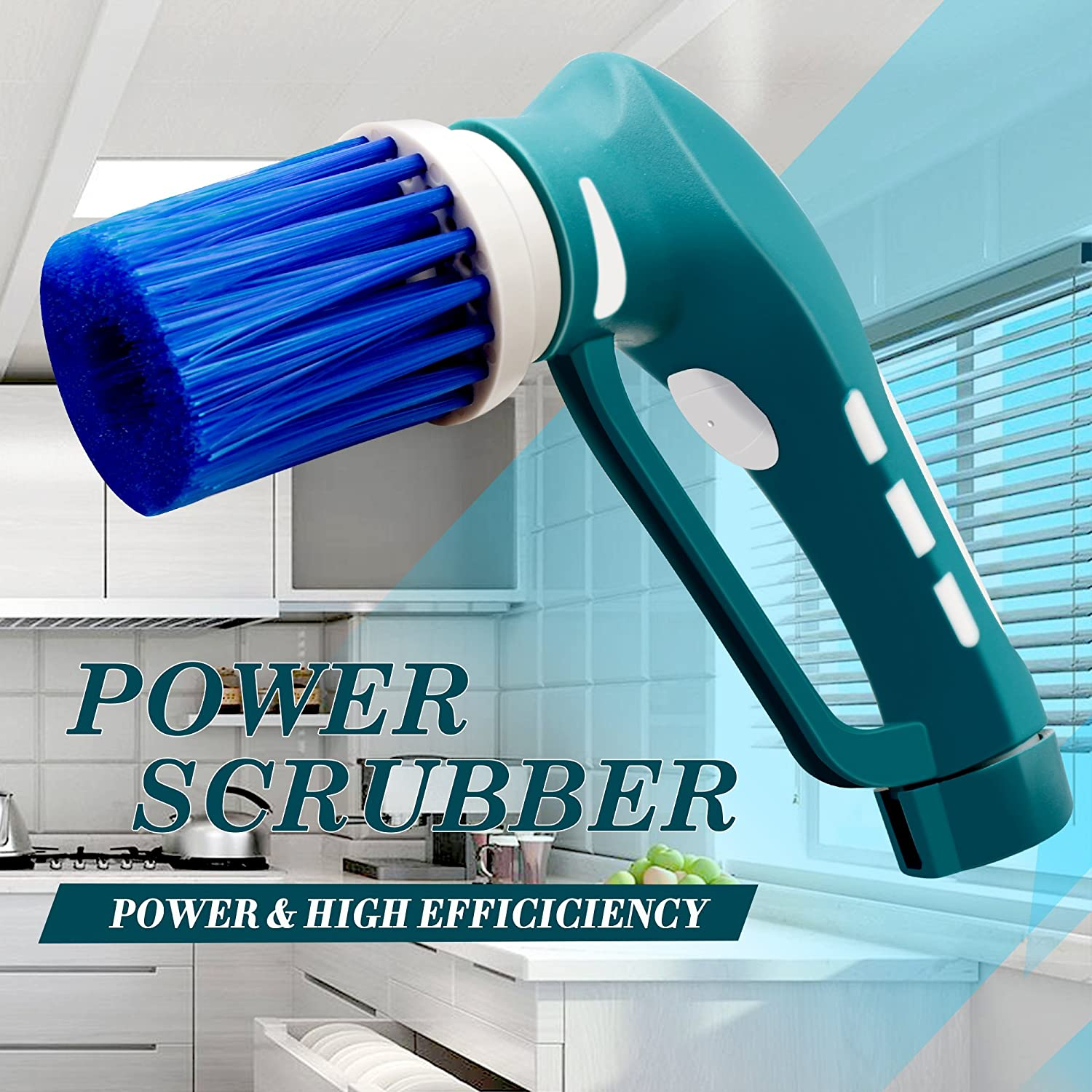 Household Electric Power ScrubberCordless Tub Shower Tile Grout - Battery powered scrub brush