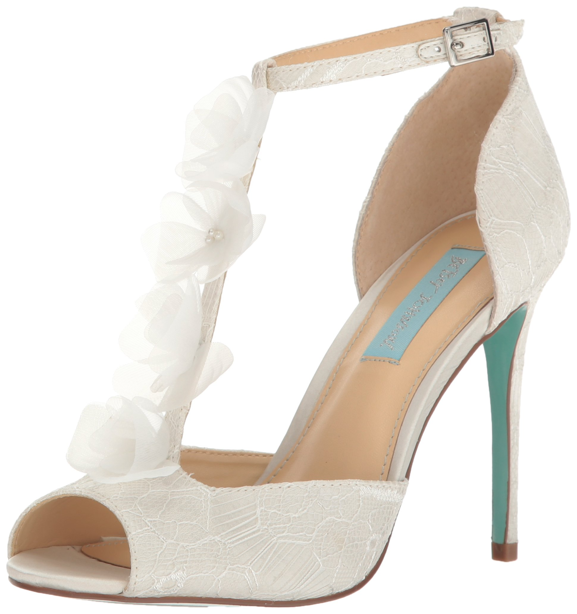 Blue by Betsey Johnson Women's SB-Sadie Dress Pump, Ivory Satin, 7.5 M US