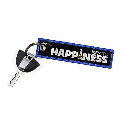 KEYTAILS Keychains, Premium Quality Key Tag for Motorcycle, Car, Scooter, ATV, UTV [Key to Happiness]: Automotive