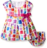 Bonnie Baby Baby Girls' Colorful Birthday Party Dress